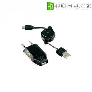 """Nabíječka Hama \""""Picco\"""" 230 V, vč. USB nabíjecího kabelu s navíjením pro micro USB"""