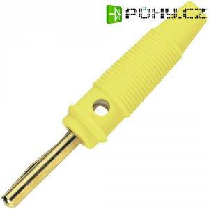 Banánkový konektor 4 mm, BKL Electronic 072151/G, pozlacený, žlutá