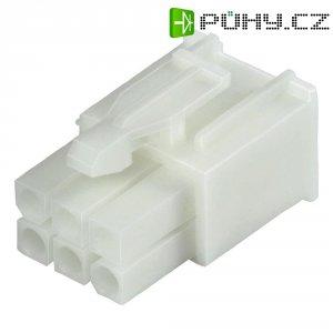 Pouzdro TE Connectivity 172168-1, zástrčka rovná, 600 V/AC, bílé