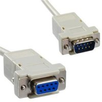 Sériový kabel k PC, 9P konektor - 9P zdířka 2m