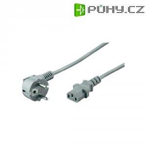 Síťový kabel s IEC zásuvkou, 2 m, šedá