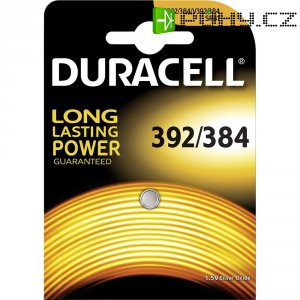 Knoflíková baterie 392, na bázi oxidu stříbra, Duracell 392, DUR067929
