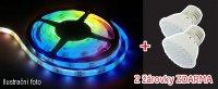 LED pásek AKCE 5050 60LED/m IP44 14.4W/m RGB, 5m + 2 LED žárovky zdarma v hodnotě 98,-