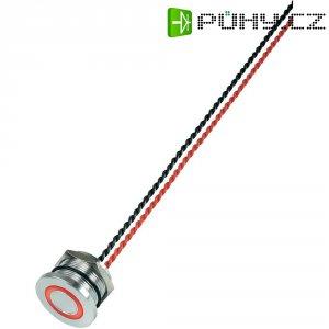 Piezo tlačítko, 24 V DC/AC, 0,2 A, IP 68, PS223P10Y01R24T, červená LED, ploché