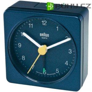 Analogový cestovní budík Braun, 66002, 31 x 56 x 56 mm, modrá