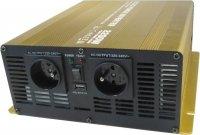 Měnič 24V/230V 2200W, čistá sinusovka, Soluowill NP2200-24