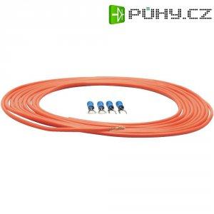 Sada napájecího kabelu a zástrček Sinus Live, 1,5 mm², červená