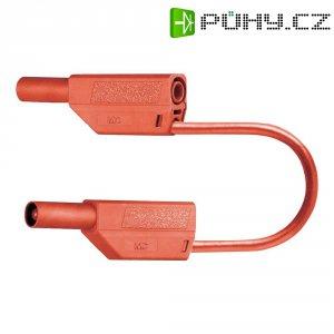 Měřicí kabel banánek 4 mm ⇔ banánek 4 mm MultiContact SLK425-E, 0,5 m, červená