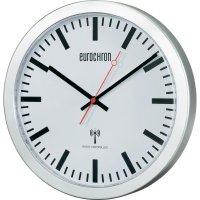 Nádražní DCF hodiny Eurochron EFW 3601, Ø 30 x 3,7 cm, stříbrná