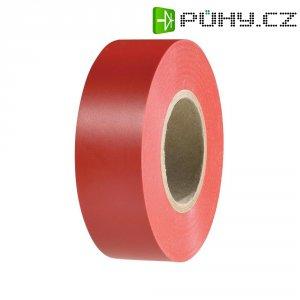 Izolační páska HellermannTyton HelaTapeFlex 15, 710-00123, 19 mm x 25 m, červená