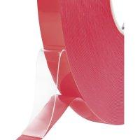 Oboustranná lepící páska Toolcraft, 1397P1550C, 15 mm x 50 m, transparentní