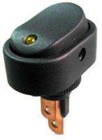 Vypínač kolébkový ON-OFF 1pol.12V/20A,žlutá LED