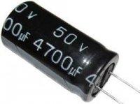4700u/50V 105° 20x40x10mm, elektrolyt.kondenzátor radiální