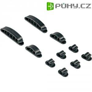 Montážní úchytky pro kabely HAMA EASY CLIP, černé