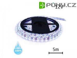 LED pásek 12V 3528 120LED/m IP68 max. 9.6W/m bílá studená (1ks=cívka 5m) voděodolný