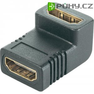 Dvojitá spojka HDMI, 90°