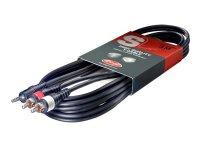 Stagg SYC3/MPS2CM E, kabel 2x RCA /MINI JACK, 3 m