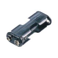Držák na baterie 2x AA s klip konektorem