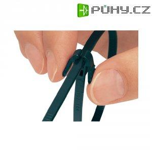 Stahovací pásky HellermannTyton REZ300-N66-BK-C1, 305 x 4.7 mm, černá