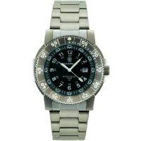 Ručičkové náramkové hodinky S&W Executive, 76055, titanový pásek, stříbrná