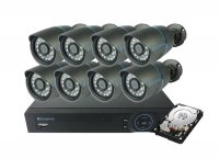Kamera set SECURIA PRO AHD8CHV1/1TB 720P 8CH DVR + 8x IR CAM + 1TB HDD analog