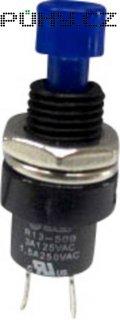 Tlačítko SCI, R13-509A-05BL, 250 V/AC, 1,5 A, vyp./(zap.), modrá