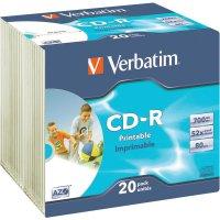 CD-R 80 700 MB Verbatim 43424 20 ks Slimcase s potiskem