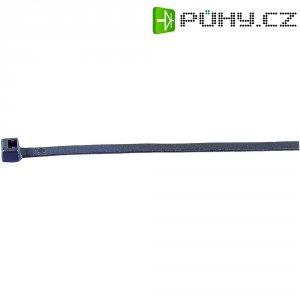 Stahovací pásky HellermannTyton UB385E-N-PA66-NA-C1, 390 x 7,6 mm, 100 ks, transparentní