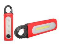 Svítilna ruční TIROSS TS-1839 1 LED+COB, 4x AAA červená