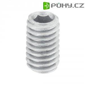 Závitový kolík Toolcraft, vnitřní šestihran, 5 mm, M6, plast, 10 ks