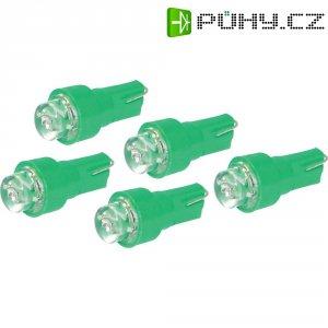 LED žárovka pro osvětlení přístrojů Eufab, 13292, 1,2 W, T5, zelená, 5 ks
