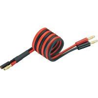 Napájecí kabel s bánanky 4 mm zásuvka/zástrčka Modelcraft, 250 mm, 2,5 mm²