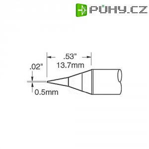 Pájecí hrot OKI by Metcal SFV-CNL05, kulatý, 0,5 mm
