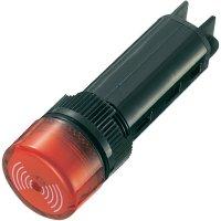 Sirénka / kontrolka, 80 dB 12 V/DC, 16 mm, červená