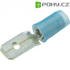 Faston konektor TE Connectivity 140971-2, šířka 6.3 mm částečná izolace, modrá, 1 ks