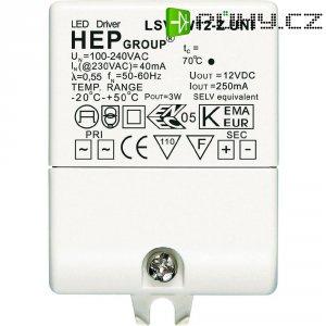 Ovladač LED osvětlení 3 W, 12 V, LSV3W12-Z UNI