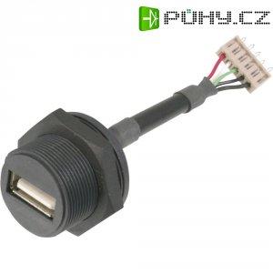 USB 2.0 konektor s IP67 ASSMANN WSW A-USB-APFS, zásuvka vestavná Typ A