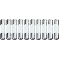 Jemná pojistka ESKA pomalá UL522.208, 250 V, 0,125 A, skleněná trubice, 5 mm x 20 mm, 10 ks