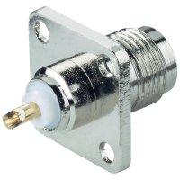 Konektor TNC BKL Electronic 405059, 50 Ω, přírubou na panel, přírubová zásuvka rovná