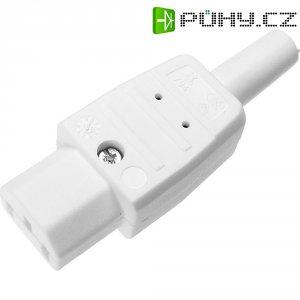 Síťová IEC zásuvka C13 Kaiser, 250 V, 10 A, bílá, 794/ws