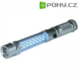 Hliníková LED svítilna s laserovým ukazovátkem