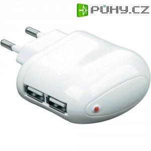 USB nabíječka Goobay Tra, 2x USB, 10 W, bílá