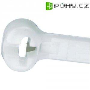Stahovací pásek s nerezovou pojistkou Dome-Top Panduit BT2I-C, 203 x 3,6 mm, přírodní