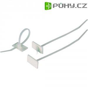 Stahovací pásky HellermannTyton T18RSA-PA66-NA-C1, 2,5 x 100 mm, přírodní