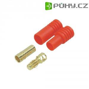 Kontakt 3,5 mm Modelcraft, zástrčka a zásuvka, zlatý