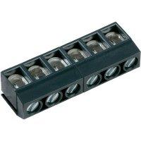 Pájecí šroub. svorka 3nás. s ochranou PTR AKZ500/3DS-5.08-H (50500030184G), 5,08 mm, šedá