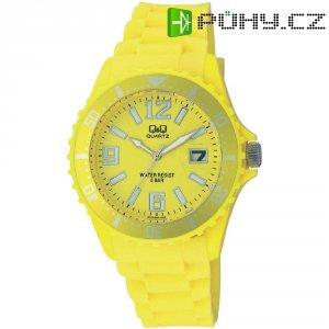 Ručičkové náramkové hodinky Carlton Quartz, silikonový pásek, žlutá