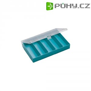 Zásobník na součástky (krabička) - 5 přihrádek, 164 x 31 x 101 mm