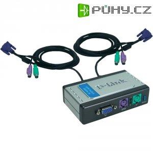 Přepínač D-Link DKVM-2K KVM, 2 porty