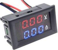 Ampérmetr / voltmetr panelový 10A 100V DC, LC23